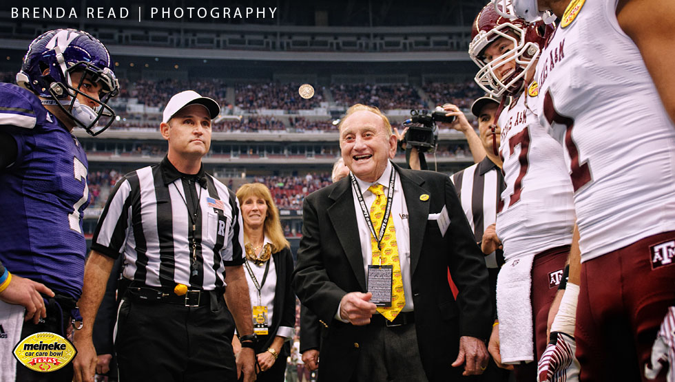 Sports Photographer Brenda Read Meineke Bowl Coin Toss 2011