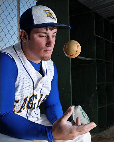 SENIOR PHOTOGRAPHER Gallery - Senior Baseball Portrait in the Dugout